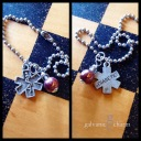 """DIABETIC - Medic alert bracelet with pewter """"diabetic"""" charm and wire wrapped metallic chestnut bead. $15 as shown."""